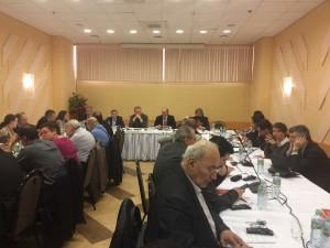 Gennady Zyuganov abre reunião do GT / Foto: Gaio Doria