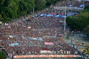 Manifestação do Primeiro de Maio em Havana