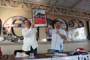 O cônsul cubano Antonio Mata e o sindicalista Renê Vicente