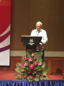 O secretário internacional do PCdoB intervém no 18º Encontro de Paertidos Comunistas, no Vietnã, em outubro de 2016nal