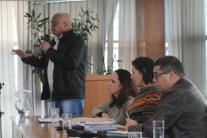 Nivaldo Santana, Secretário Sindical Nacional do PCdoB, destacou a atividade internacionalista dos trabalhadores comunistas / Foto: Nena Machado