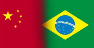 Bandeiras China e Brasil