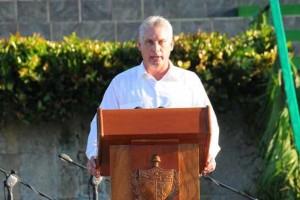 O primeiro vice-presidente de Cuba, Díaz-Canel