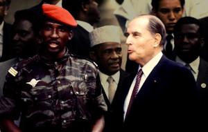Sankara e Mitterrand