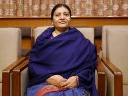 A presidenta comunista do Nepal