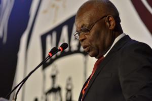 Mawete João Baptista, do Comitê Central do Movimento Pela Libertação de Angola (MPLA) fala ao 14º Congresso