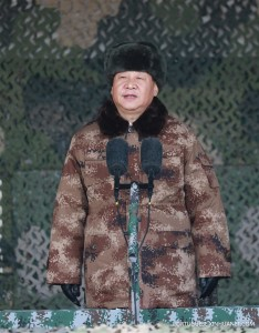 Xi em uniforme militar