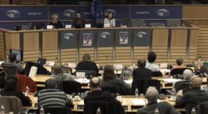 Seminário no Parlamento Europeu, 10 de janeiro de 2018. Imagem da transmissão ao vivo.